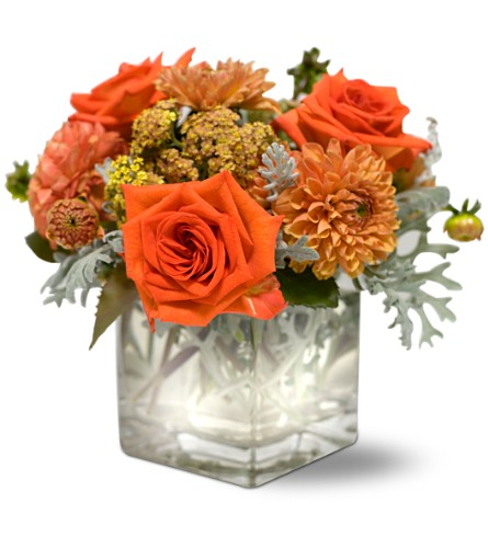 Teleflora's Perfect Orange Harmony in Sayville NY, Sayville Flowers Inc