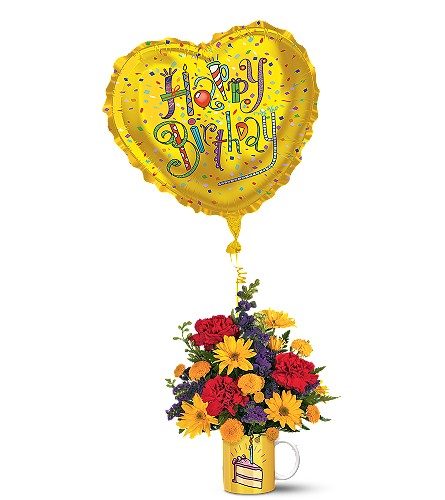Teleflora's Birthday Surprise Bouquet in Oklahoma City OK, Array of Flowers & Gifts