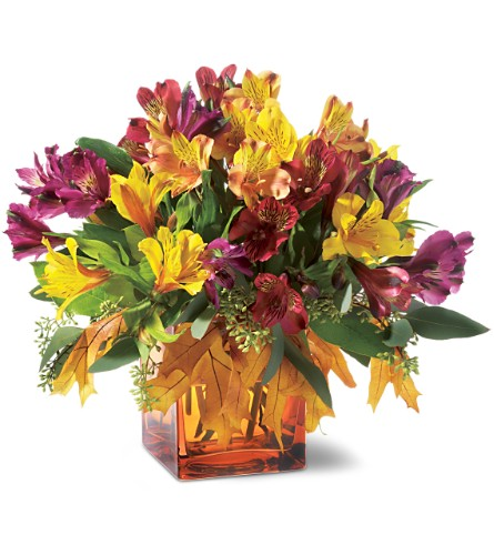 Teleflora's Autumn Alstroemeria Bouquet in Oklahoma City OK, Array of Flowers & Gifts
