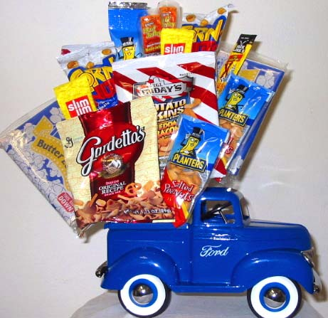 JF23 ''Clearly Classic Junk Food Bouquet in Oklahoma City OK, Array of Flowers & Gifts
