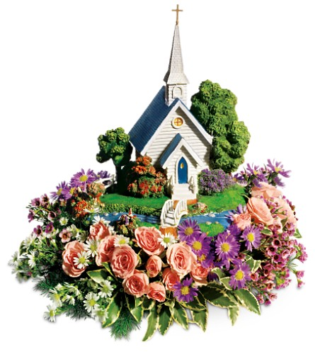 Thomas Kinkade's Chapel Bouquet by Teleflora in Fullerton CA, King's Flowers
