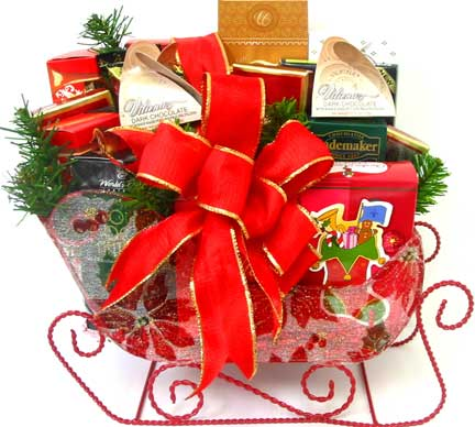 XGF27 ''Chocolate Holiday Delight'' Gourmet Candy Basket in Oklahoma City OK, Array of Flowers & Gifts
