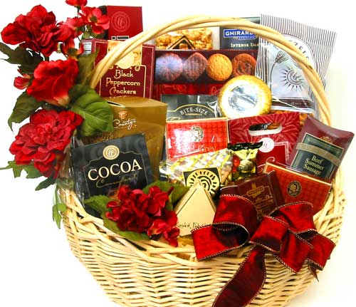 GF32 ''Gourmet Feast'' Gift Basket in Oklahoma City OK, Array of Flowers & Gifts