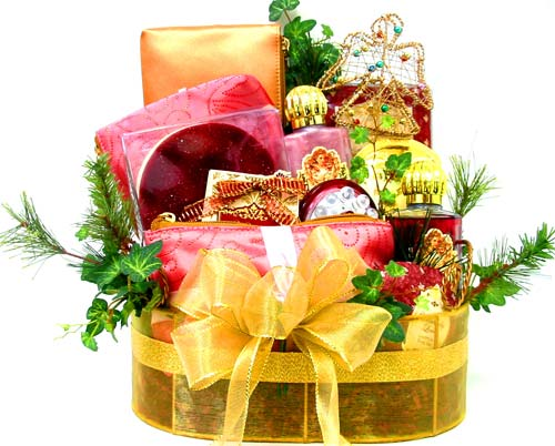 HGB202 ''Scent-imental Holidays'' Gift Basket in Oklahoma City OK, Array of Flowers & Gifts