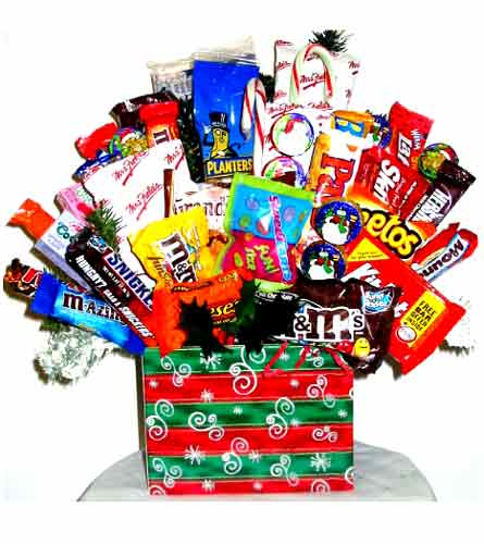 HCB2505 ''Holiday Indulgence'' Candy & Food Bouquet in Oklahoma City OK, Array of Flowers & Gifts