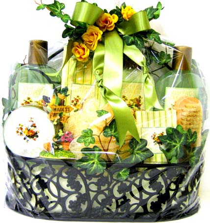 GB258 ''Sunshine Garden'' Bath & Body Basket in Oklahoma City OK, Array of Flowers & Gifts