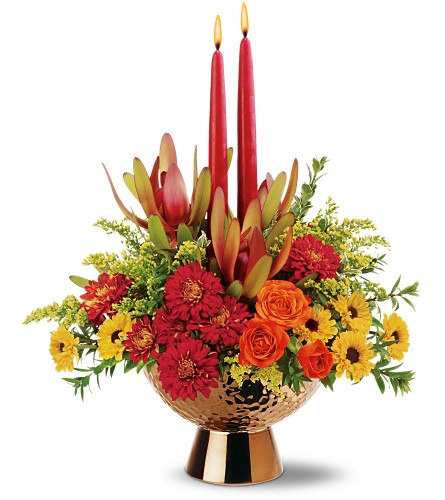 Teleflora's Autumn Bronze Bouquet in Oklahoma City OK, Array of Flowers & Gifts