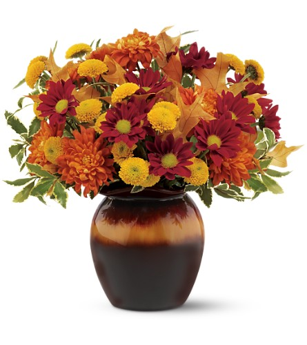Teleflora's Shades of Autumn Bouquet in Bellevue PA, Fred Dietz Floral