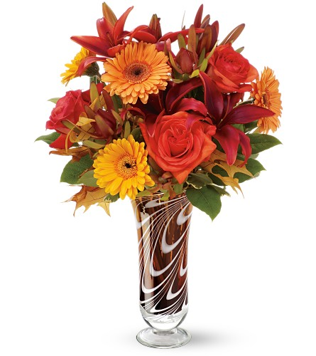 Teleflora's Swirls of Autumn Bouquet - Deluxe in Atlantic IA, Aunt B's Floral