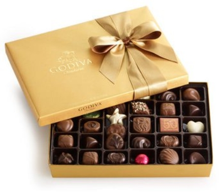 Godiva Gold Ballotin, 36 pc. in Norristown PA, Plaza Flowers