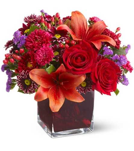 Teleflora's Autumns Grace by Petals & Stems in Dallas TX, Petals & Stems Florist
