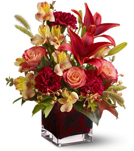 Teleflora's Indian Summer in Dallas TX, Petals & Stems Florist