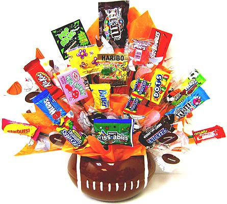 CB171 ''Rah! Rah! Football'' Candy Bouquet in Oklahoma City OK, Array of Flowers & Gifts