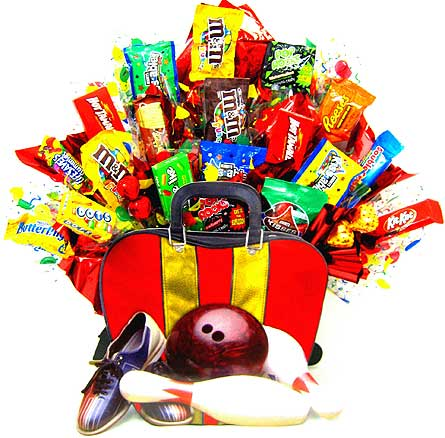 CB214 ''Bowling Fanatic'' Candy Bouquet in Oklahoma City OK, Array of Flowers & Gifts
