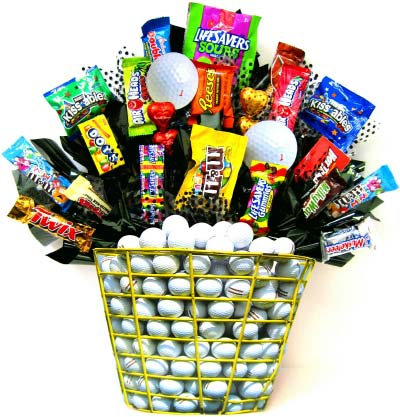 CB203 ''Tee Time'' Candy Bouquet in Oklahoma City OK, Array of Flowers & Gifts