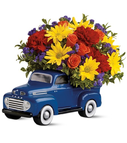 Teleflora's '48 Ford Pickup Bouquet in Caribou ME, Noyes Florist & Greenhouse