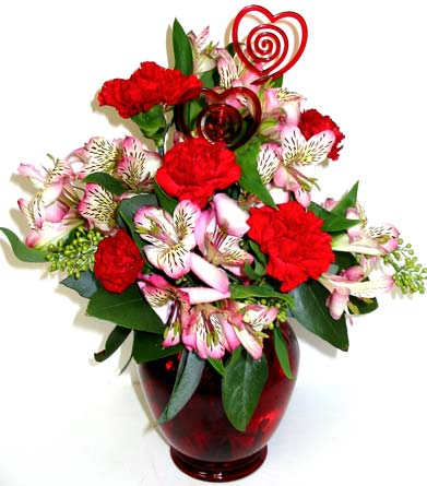 VF93 ''Fresh Love'' Vase Arrangement in Oklahoma City OK, Array of Flowers & Gifts