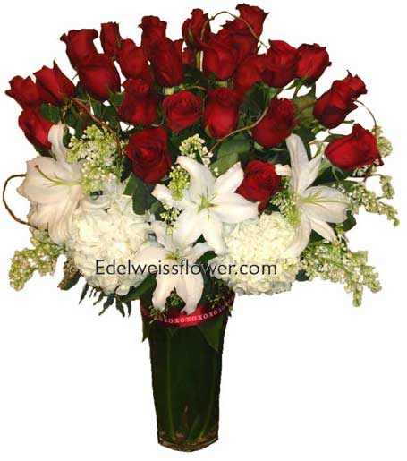Ultimate Roses Flower Bouquet in Santa Monica CA, Edelweiss Flower Boutique