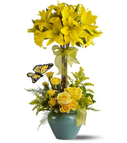 Lily Topiary Deluxe in Laurel MD, Rainbow Florist & Delectables, Inc.