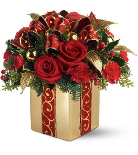 Teleflora's Holiday Gift Bouquet in Oklahoma City OK, Array of Flowers & Gifts