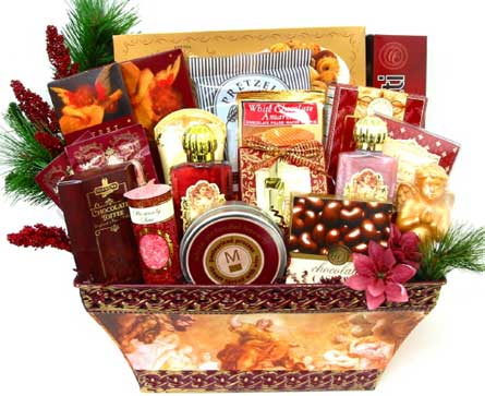 GF85  ''Masterpiece'' Gourmet & Gift Basket in Oklahoma City OK, Array of Flowers & Gifts