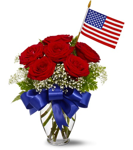 Star Spangled Roses Bouquet in Eugene OR, The Shamrock Flowers & Gifts