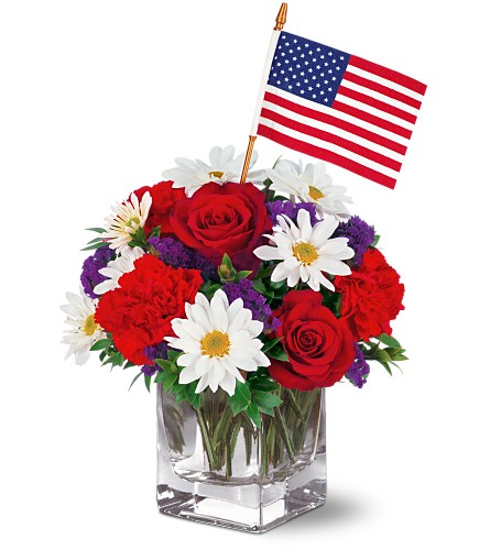 Freedom Bouquet by Teleflora in Eugene OR, Dandelions Flowers