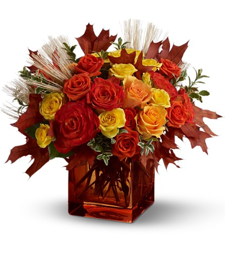 Teleflora's Fine Fall Roses in Winter Haven FL, DHS Design Guild