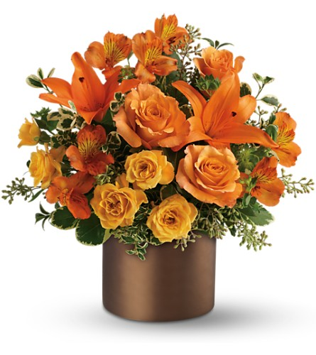 Teleflora's Sunset Glow in Boston MA, Exotic Flowers