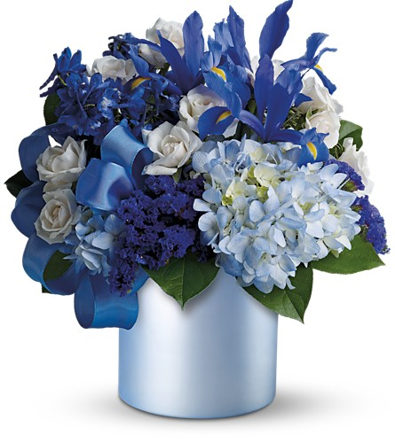 Teleflora's Blue Blooms in Liverpool NY, Creative Florist