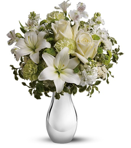 Teleflora's Silver Reflections Bouquet in Greensboro NC, Send Your Love Florist & Gifts