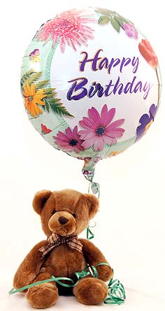 Happy Birthday Teddy Local and Nationwide Guaranteed Delivery - GoFlorist.com