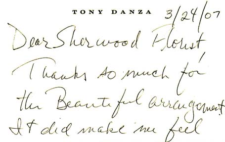 Tony Danza In Spring Hill Fl Sherwood Florist Plus Nursery
