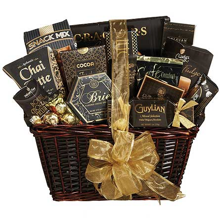 GF89 ''Delightful Gourmet'' Gift Basket in Oklahoma City OK, Array of Flowers & Gifts