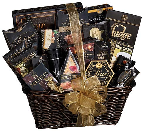 GF97 ''The V.I.P.'' Gourmet Food Gift Basket in Oklahoma City OK, Array of Flowers & Gifts