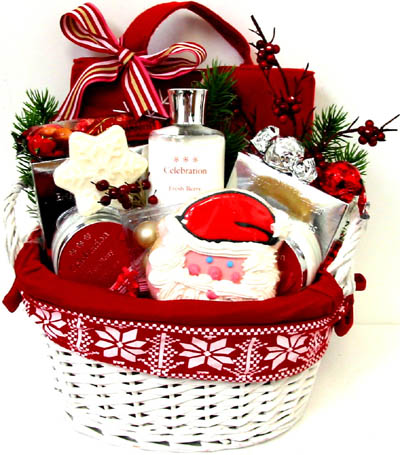 XGB126  ''Santa's Scents'' Gift & Gourmet Basket in Oklahoma City OK, Array of Flowers & Gifts
