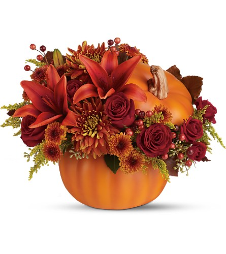 Teleflora's Prize Pumpkin Bouquet - Deluxe - Deluxe in Bartlett IL, Town & Country Gardens