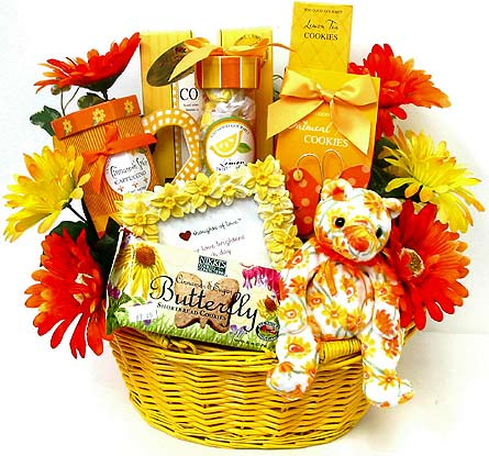 GF136 ''Sunny Days'' Gourmet Food Basket in Oklahoma City OK, Array of Flowers & Gifts