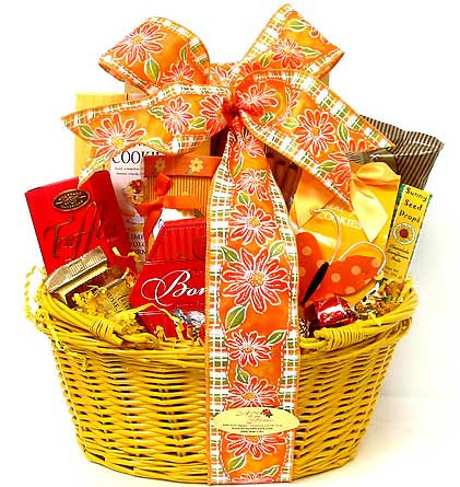 GF145 ''Sun-Kissed'' Snack Basket in Oklahoma City OK, Array of Flowers & Gifts