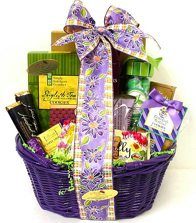 GF146 ''Bright & Bold'' Food Gift Basket in Oklahoma City OK, Array of Flowers & Gifts