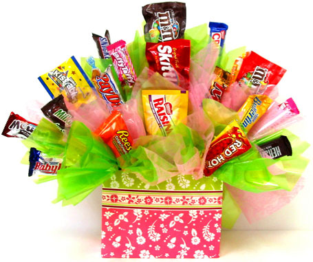 CB273 ''Sweet  Pleasures'' Candy Bouquet in Oklahoma City OK, Array of Flowers & Gifts