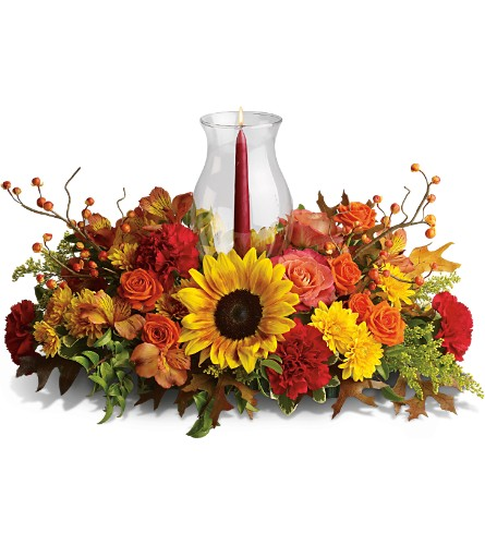 Delight-fall Centerpiece in San Fernando CA, A Flower Anytime