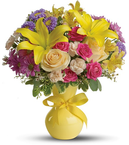 Teleflora's Color It Happy - Deluxe in Laurel MD, Rainbow Florist & Delectables, Inc.
