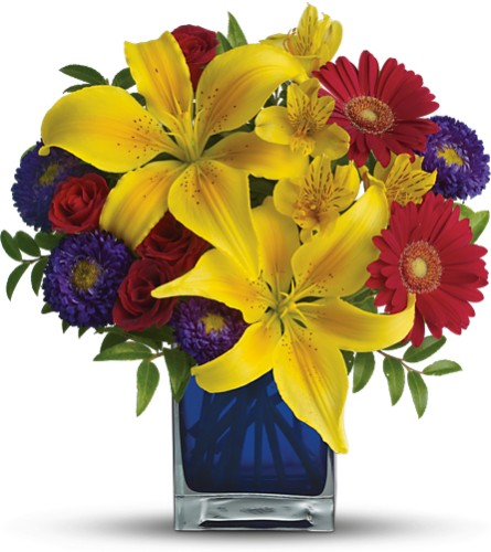 Teleflora's Blue Caribbean Local and Nationwide Guaranteed Delivery - GoFlorist.com