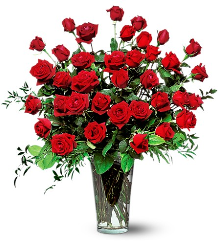 Three Dozen Red Roses in Boynton Beach FL, Boynton Villager Florist