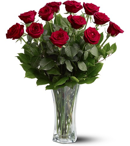 A Dozen Premium Red Roses in Santa Monica CA, Edelweiss Flower Boutique