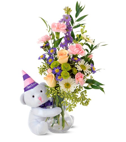 Teleflora's Party Bear in Metairie LA, Villere's Florist