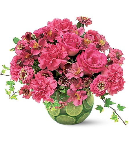 Hot Pink with Limes Local and Nationwide Guaranteed Delivery - GoFlorist.com