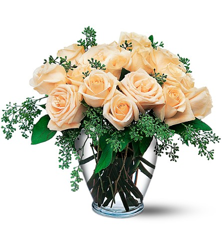 White Rose boquet by Petals & Stems in Dallas TX, Petals & Stems Florist