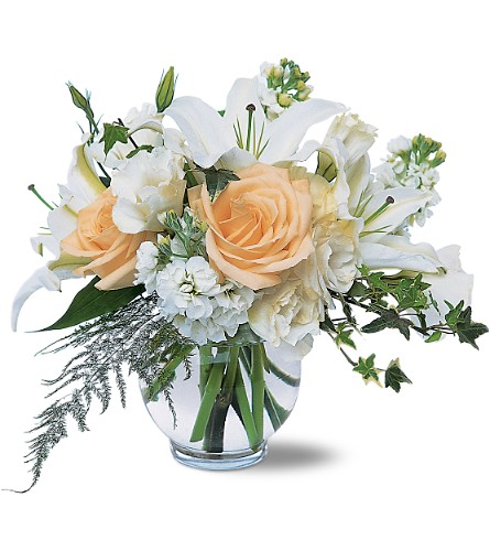 White Roses & Lilies in Laurel MD, Rainbow Florist & Delectables, Inc.